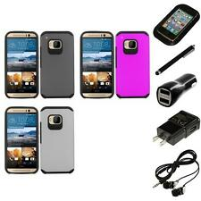 For HTC One M9 Slim-Grip Shockproof 2-Piece Hard Case Cover Headphones