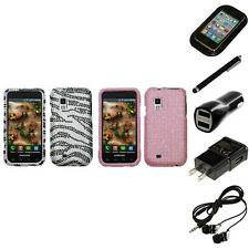 For Samsung Fascinate i500 Diamond Diamante Bling Rhinestone Case Headphones