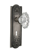 Nostalgic Warehouse Chateau Interior Mortise Door Knob with Meadows Plate