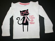 NEW Gymboree Kitty in Pink Tee Top Shirt NWT Size 2T 3T 4T 5T Front & Back Cat