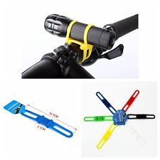 Bike Bicycle Cycling Silicone Elastic Strap Bandage Light Lamp Mount Holder