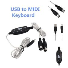 New USB to Midi Interface Piano Music Keyboard Cable Adapter Converter for PC JV