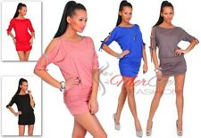NEW Sexy Women's Open Sleeve Stretchy Jersey Tunic Mini Dress Bodycon Top ღ 022