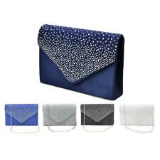 Womens Rhinestone Bag Stain Party Evening Clutches Handbags Chain Shoulder Bags