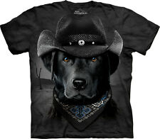The Mountain Labrador Cowboy Lab Animal Western Adult T Tee Shirt 103768