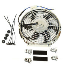 Multi-function High Performance Chrome Electric Fan Curved Blade 12v Mount kit