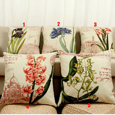 45cm*45cm Flower Cotton Linen Cushion Covers Pillow Cases Home Decor