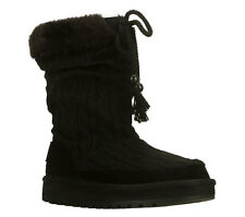 New! Womens Skechers Keepsakes Blur Mid Calf Pull-on Boots Black D2