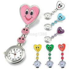 Wholesale Heart Shape Smile Face Nurse Fob Brooch Pendant Cute Pocket Watch New