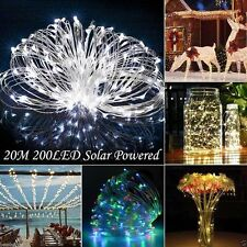 10/15/20m LED Solar Fairy String Light Outdoor Wedding Christmas Party Lamp DQ