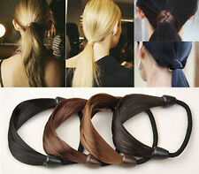 Hot! New Fashion Headwear False Wig Braids Headbands Ponytail Elastic Hair Rope