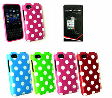 Polka Dots Silicone Gel Case Cover for Blackberry Q5 Q10 Z10 & Screen Protector