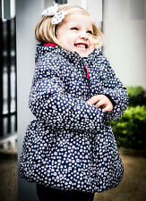 Baby Toddler Girls Daisy Printed Puffa Coat Jacket By Minoti (6-12 Months)
