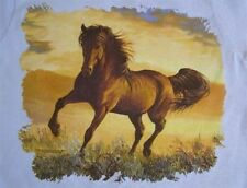 NEW HORSE TSHIRT - Bay Horse In Sunset