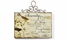 Gift Craft Serenity Prayer Wall Plaque