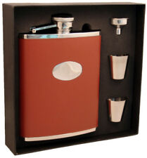 Visol Products Leather Deluxe Flask Gift Set