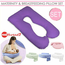 Maternity & Breastfeeding U Pillow Set Pregnancy Feeding Purple Support Cushion