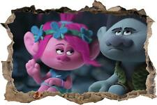 Trolls Movie Smashed Wall Decal Graphic Wall Sticker Home Decor Art Mural H684