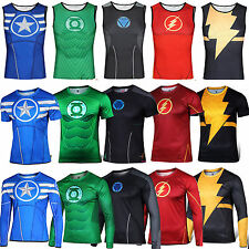 Mens Compression Base Layer  Hero Costume Top Tee T-Shirts Jersey Cycling Shirts