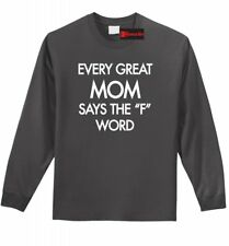 Every Great Mom Curses Funny L/S T Shirt Mother's Day Mom Wife Gift Tee Shirt Z1
