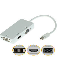 DisplayPort to VGA HDMI DVI Converter Adapter Cable for Apple MacBook High-End