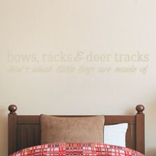 Sweetums Wall Decals Bows Racks and Deer Tracks Wall Decal