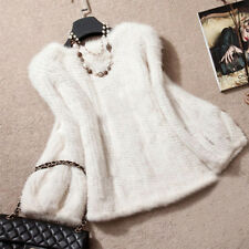 Domestic Knitted Mink Fur Pullover Poncho Jacket Coat Better Price Cape Sweater