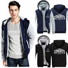 Hot Warm Cowboys Dallas Shear Jacket Fleece Zipper Hoodie Sweatshirt Coat Jacket