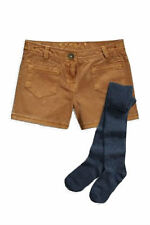 Next 2 Pieces Set Brown Denim Shorts and Tights For Girl`s Size 12yrs