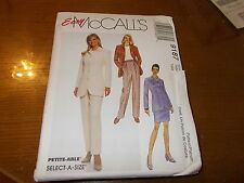 Easy McCalls Pattern 9187 Ms Princess Seamed Jacket~Front Pleat Pants & Skirt