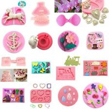 Various 3D Fondant Cake Decor Mould Gum Paste Chocolate Sugarcraft Embossed Mold