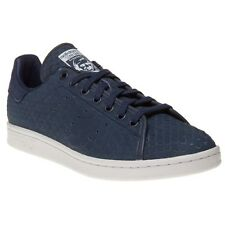 New Mens adidas Blue Stan Smith Decon Leather Trainers Court Lace Up