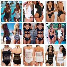 Women One Piece Swimsuit Push Up Padded Bikini Monokini Swimwear Bathing US Y522