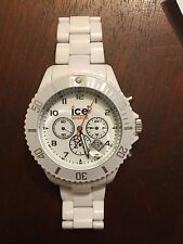 Ice Watch Men's Chronograph Collection White Dial White Strap Watch