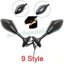 Pair Motorcycle Turn Signal Mirrors For Yamaha YZF R1 R6 YZF-R1 YZF-R6 1999-2001