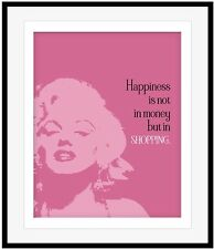Marilyn Monroe Celebrity Quotes, Canvas, Prints, and Plaque Mounts, Unique Gift