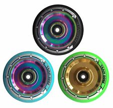 Petrol Neochrome Gold Chrome Hollow Core Alloy Stunt Scooter Wheel 100mm & 110mm