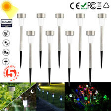 Outdoor Stainless Steel LED Solar Power Light Lawn Garden Landscape Path Lamp