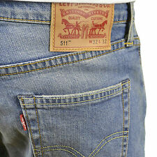 Levi's 511 Mens Branded Light Stonewash Slim Fit Straight Leg Jeans, BNWT