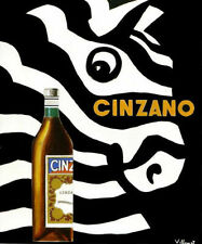 CINZANO VINTAGE ALCOHOL PUB BAR DECOR METAL TIN SIGN POSTER WALL PLAQUE