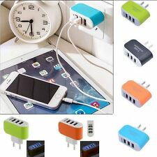 Phone Charger Wall Home 3-Port USB Charger Adapter AC LED Power Light