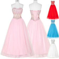 Luxury Evening Bridesmaid Wedding Dress Formal Prom Party Quinceanera Ball Gown