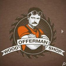Authentic Offerman Mustache Tee - Keep Calm and Chive On - Brown - Large & XL
