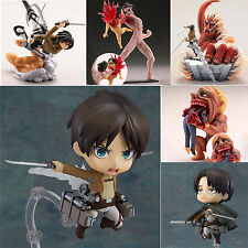Anime Action Figures Attack On Titan Scene Fighting Character Figurine Figma Toy