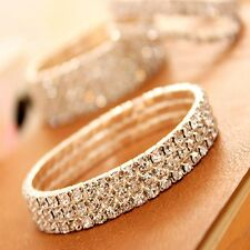 Costume Effect Bright New Party Prom Wedding Anklet Bracelet Crystal Stretch