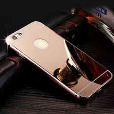 Luxury Aluminum Ultra-Thin Rosegold Mirror Metal Case For iPhone 6 6S{u496