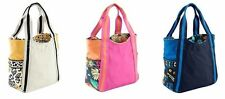 NWT Authentic Vera Bradley Small Colorblock Tote Bag Retired Blue Pink Yellow