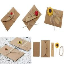 DIY Greeting Card Paper Flower Envelop Wedding Birthday Festival Gift Art Craft