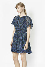 NWT $128 FCUK French Connection Soho Boa Snake print dress Blue S US sz 4
