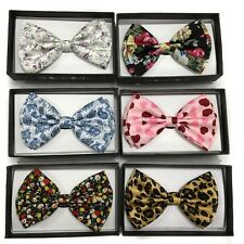 Fashion Adjustable Men Bowtie Necktie  Flower Style Bow Tie Novelty Tuxedo